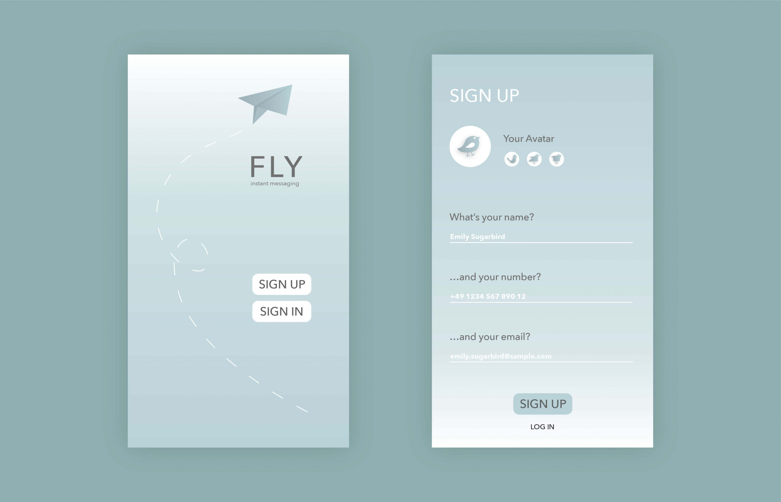 Prompt: Design a sign up page, modal, form, app screen, etc.
